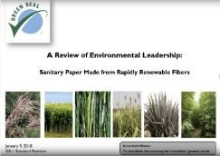 Rapidly Renewable Fibers in Sanitary Paper Products