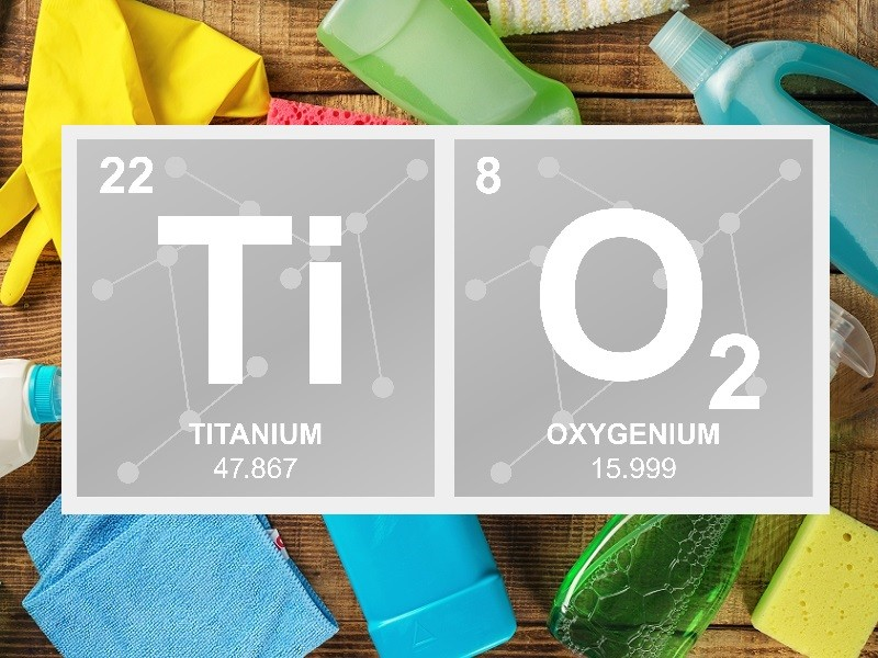 Titanium Dioxide as a Whitener for Enzyme-Based Cleaning Products